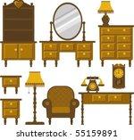 furniture | Shutterstock .eps vector #55159891
