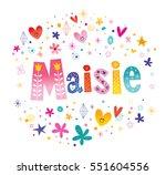 maisie girls name decorative... | Shutterstock .eps vector #551604556