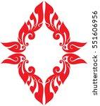 floral tribal wing vector... | Shutterstock .eps vector #551606956