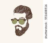 hipster fashion bearded man... | Shutterstock .eps vector #551608516