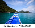 heading for an island adventure ... | Shutterstock . vector #551609812