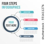 infographic template with four... | Shutterstock .eps vector #551611276