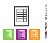 spreadsheet flat web icon | Shutterstock .eps vector #551617972