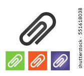 office paper clip   paperclip... | Shutterstock .eps vector #551618038