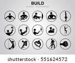 construction icons set on white ... | Shutterstock .eps vector #551624572