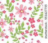 vector seamless pattern with...   Shutterstock .eps vector #551627755