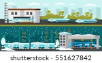 industrial factory horizontal... | Shutterstock .eps vector #551627842