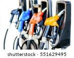 colorful petrol pump filling ... | Shutterstock . vector #551629495