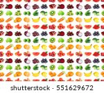 fruits and vegetables. seamless ... | Shutterstock . vector #551629672