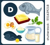 set with illustrations of food...   Shutterstock .eps vector #551639218