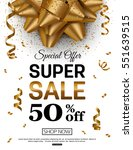sale banner template with red... | Shutterstock .eps vector #551639515