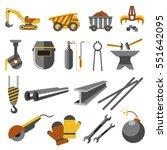 icons set of metallurgy... | Shutterstock .eps vector #551642095