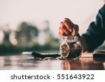 close up of people hand work... | Shutterstock . vector #551643922
