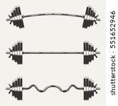 fitness icons  set of  barbells ... | Shutterstock .eps vector #551652946