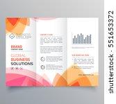 business trifold brochure... | Shutterstock .eps vector #551653372