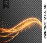 light effect of golden light... | Shutterstock .eps vector #551653582