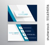 modern blue and white business card template | Shutterstock vector #551654056