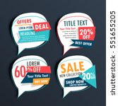 pack of sale stickers in speech ... | Shutterstock .eps vector #551655205