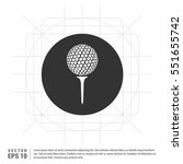 vector golf ball on tee   Shutterstock .eps vector #551655742