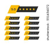 review star rating symbol | Shutterstock .eps vector #551656072