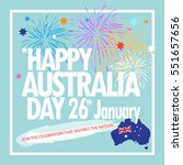 happy australia day 26th... | Shutterstock .eps vector #551657656