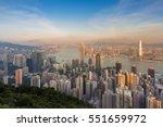 hong kong reidence area skyline ... | Shutterstock . vector #551659972