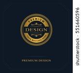 monogram design elements ... | Shutterstock .eps vector #551660596