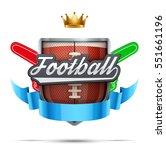 american football label. fan... | Shutterstock .eps vector #551661196