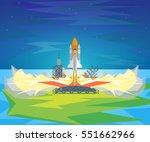cartoon start space shuttle...