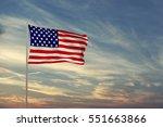 american flag in the sky 3d... | Shutterstock . vector #551663866