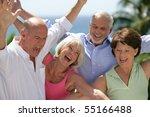 portrait of senior couples... | Shutterstock . vector #55166488