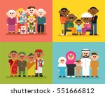 various nationality race people ... | Shutterstock .eps vector #551666812
