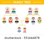 family tree grandparents ... | Shutterstock .eps vector #551666878