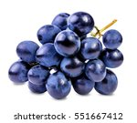 grapes isolated on the white... | Shutterstock . vector #551667412