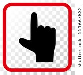hand pointer up intensive red... | Shutterstock .eps vector #551667832