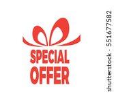 vector creative box for gift... | Shutterstock .eps vector #551677582