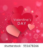 happy valentines day and... | Shutterstock .eps vector #551678266