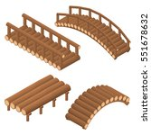the bridge of wooden logs.... | Shutterstock .eps vector #551678632