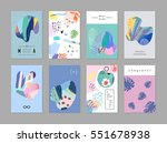 set of creative universal art... | Shutterstock .eps vector #551678938