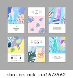 set of creative universal art... | Shutterstock .eps vector #551678962