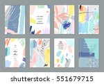 Set of artistic creative universal cards. Hand Drawn textures. Wedding, anniversary, birthday, Valentine's day, party. Design for poster, cover, card, invitation, placard, brochure, flyer.