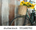 The Old Bike With The Sunflowe...