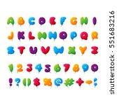 kids font alphabet vector set...