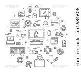 vector line design concept for... | Shutterstock .eps vector #551684608