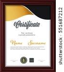 certificate template letter... | Shutterstock .eps vector #551687212