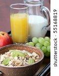 healthy breakfast consisting of ... | Shutterstock . vector #55168819