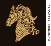 abstract decorative brown horse ... | Shutterstock . vector #551692762