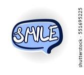 smile  happy face  positive... | Shutterstock .eps vector #551695225