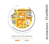 application development flat... | Shutterstock .eps vector #551698042