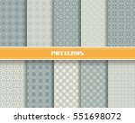 vector set of seamless pattern... | Shutterstock .eps vector #551698072